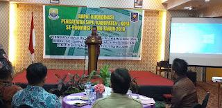 Staf Ahli Provinsi Jambi Secara Resmi Membuka Rakor Dukcapil Kabupaten Kota Se-provinsi Jambi.
