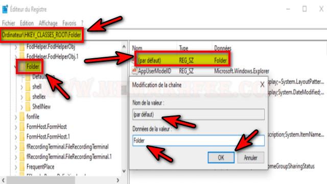 حل-المستحيل-إنشاء-مجلد-جديد-windows-10-regedit