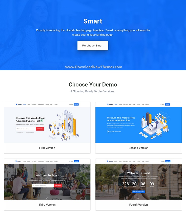 Marketing HTML Landing Page Template