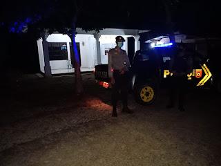 Patroli Blue Light Yang Di Laksanakan Anggota Polsek Malua Serta Menghimbau Adaptasi Kebiasaan Baru