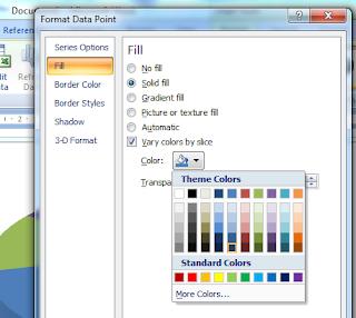 Memilih warna untuk diagram lingkaran