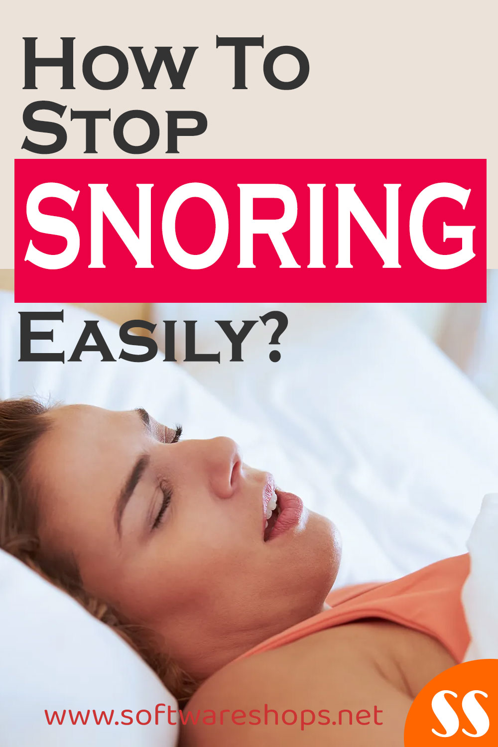 how to stop snoring easily