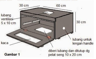 membuat lubang ventilasi pada mesin tetas