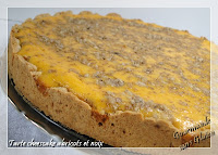 tarte cheese cake aux abricots et noix sans gluten