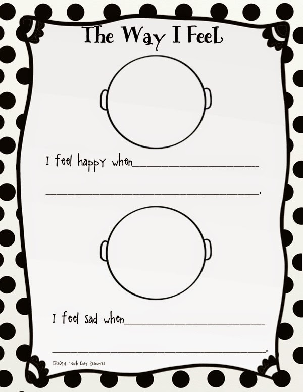 Teach Easy Resources: Picture Book About Feelings and a