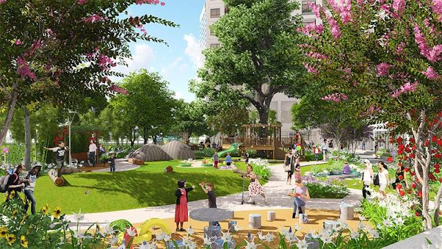 Không gian xanh dự án The K Park