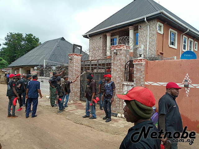 See The Moment SARS Stormed Kidnapper's Mansion Before Demolishing It. Photos