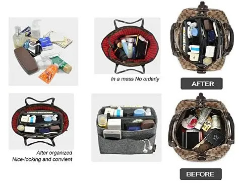 4-OMYSTYLE Handbag & Tote Organizer, Bag in Bag