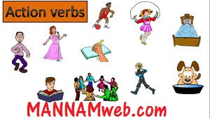 Action Verbs- matching work sheets/missing letters in words/multiple choice tests/ word search puzzle