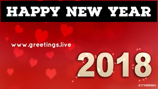 Love cards 2018 new Year love symbols in red bg