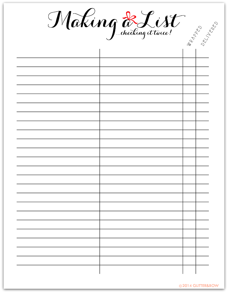 This is a picture of Selective Printable Christmas Shopping List