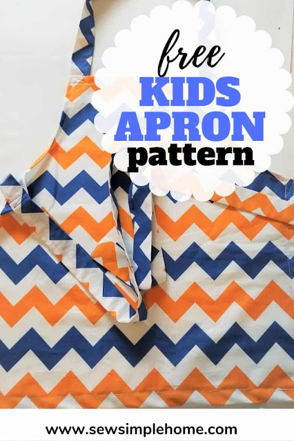 Learn how to sew this free kids apron pattern and download the free sewing pattern for children sizes 18 months to 6 years old.