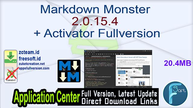 Markdown Monster 2.0.15.4 + Activator Fullversion