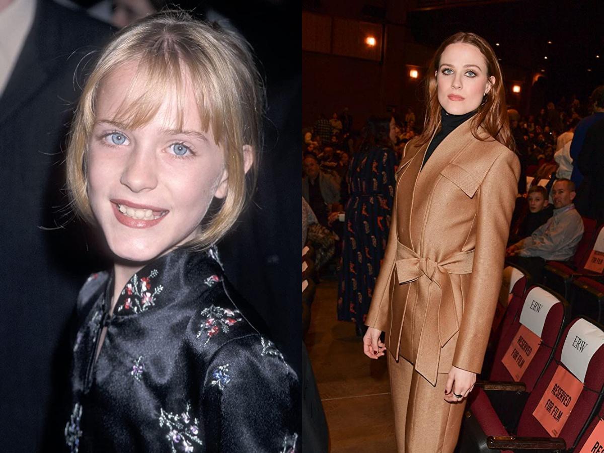 Evan Rachel Wood in 1998 and 2020