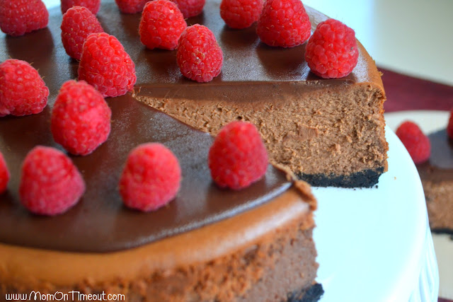 Triple Threat Chocolate Cheesecake | Mom On Timeout