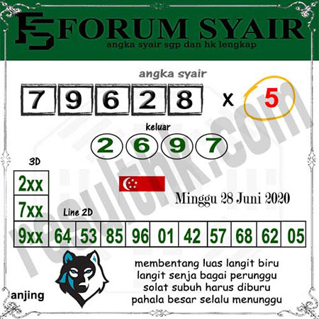 Forum Syair SGP Minggu 28 Juni 2020