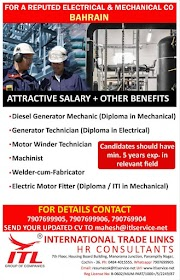 BAHRAIN JOBS : REQUIRED FOR MECHANICAL COMPANY IN OMAN .g
