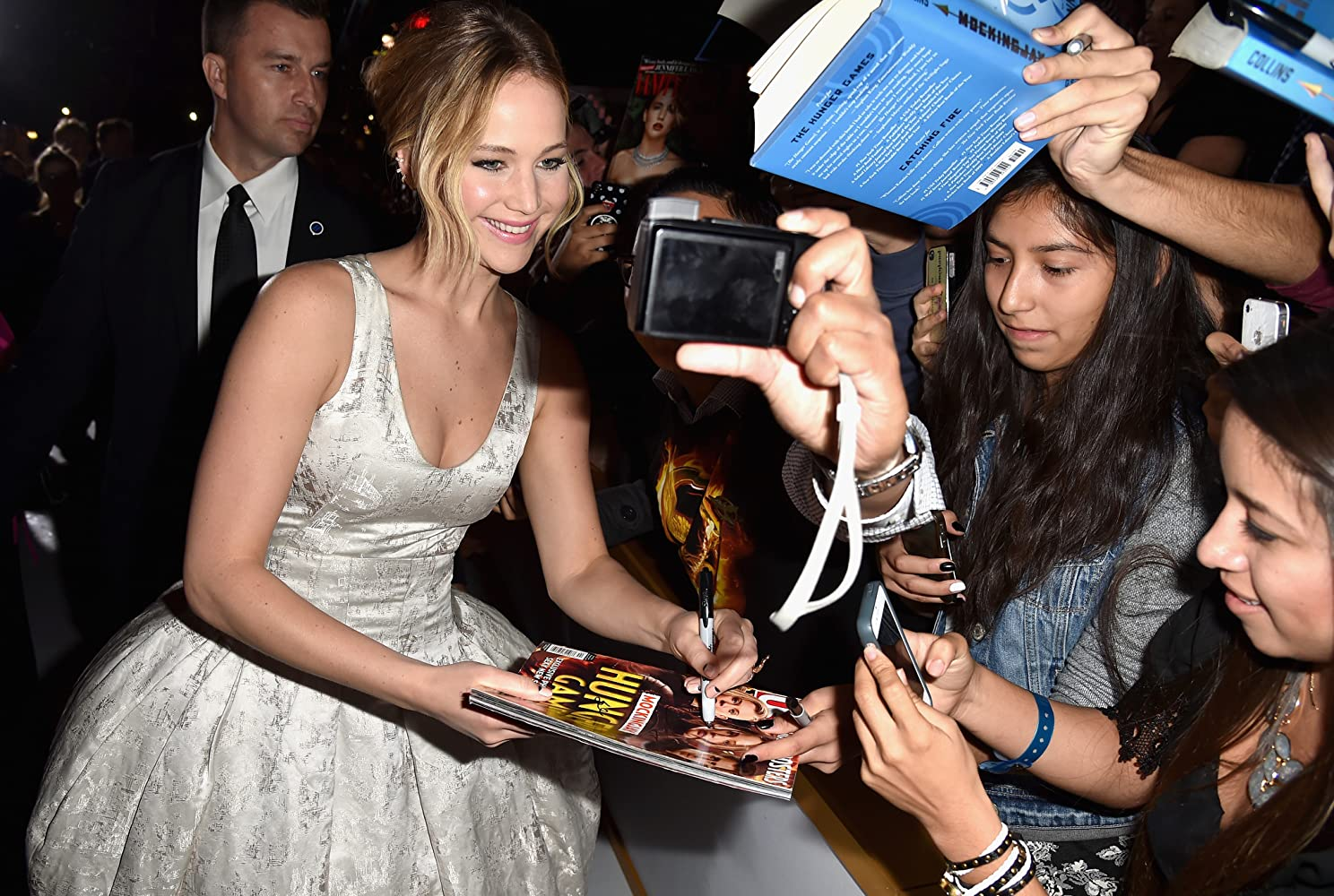 Jennifer Lawrence at an event for The Hunger Games: Mockingjay