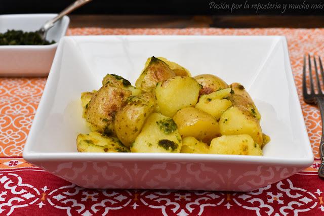 Patatas con pesto casero original