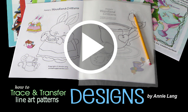 Annie Lang shows you how easy it is to use trace and transfer line art patterns for your craft projects.