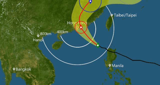 Peringatan Thypoon T3 Sudah Dikeluakan di Hong Kong, Ini yang Harus Kamu Lakukan Sebagai Langkah Pencegahan