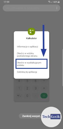 Jak otworzyć aplikację w wyskakującym widoku?