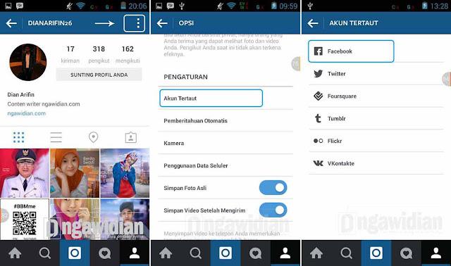 Cara Mengganti Akun Facebook Yang Terkoneksi Dengan Instagram