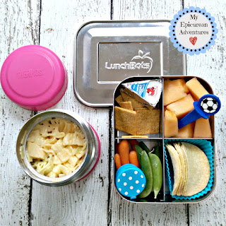 My Epicurean Adventures: Lunch Box Fun 2015-16: Weeks #23-28. Lunch box ideas, school lunch ideas, lunches, mac and cheese