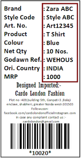 Label Design for Readymade Garments Brand with Barcode