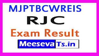 MJPTBCWREIS RJC Exam Results 2018