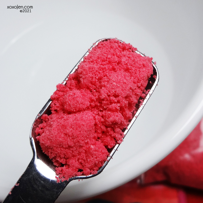 xoxoJen's swatch of Alter Ego 7 Cherries Rose Up bubbling bath crumbs