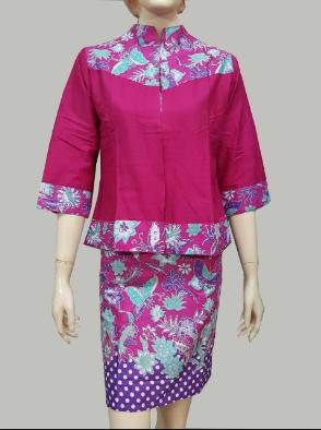 model baju batik kantor lengan panjang keren