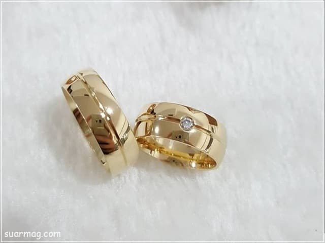اشكال محابس ذهب 10   Gold Engagement Rings Forms 10