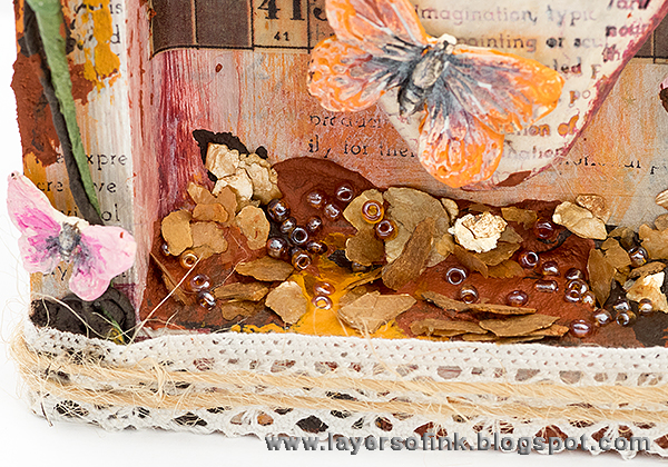 Layers of ink - Art Colors My World Shadow Box tutorial by Anna-Karin, with products by Prima Marketing and Finnabair