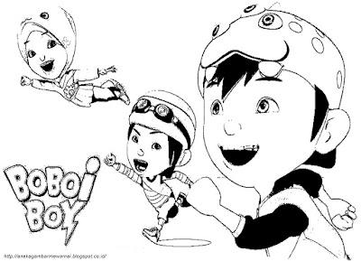 Gambar Mewarnai Boboi Boy1