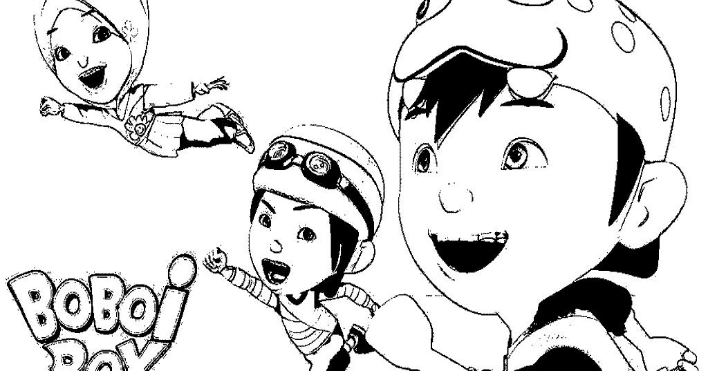 Gambar Mewarnai Boboi Boy Untuk Anak Paud Dan Tk