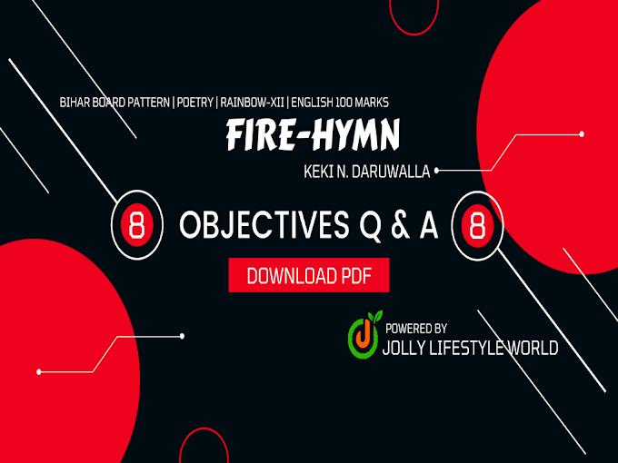 Fire-Hymn Objective Question Answer Pdf