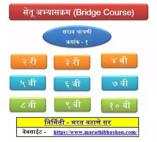 सेतू अभ्यासक्रम चाचणी  रिझल्ट शिट Setu Bridge Course Result Sheet