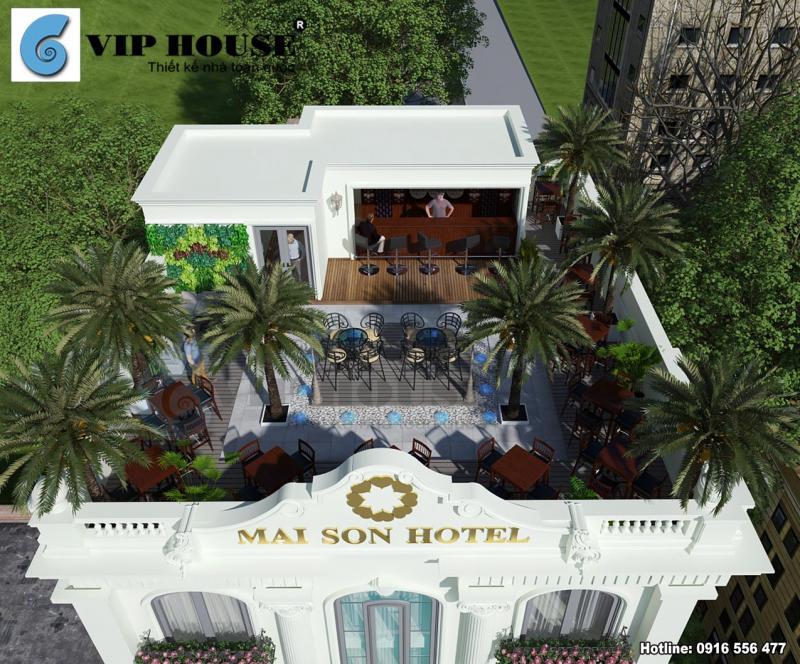 Hình ảnh: Khu vực kinh doanh trên cao thú vị của thiết kế khách sạn tân cổ điển tại Quy Nhơn