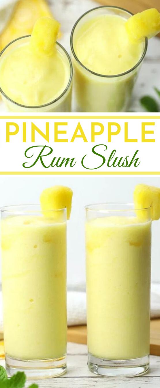 Pineapple Rum Slush #drinks #summer #slushie #alcohol #refreshing