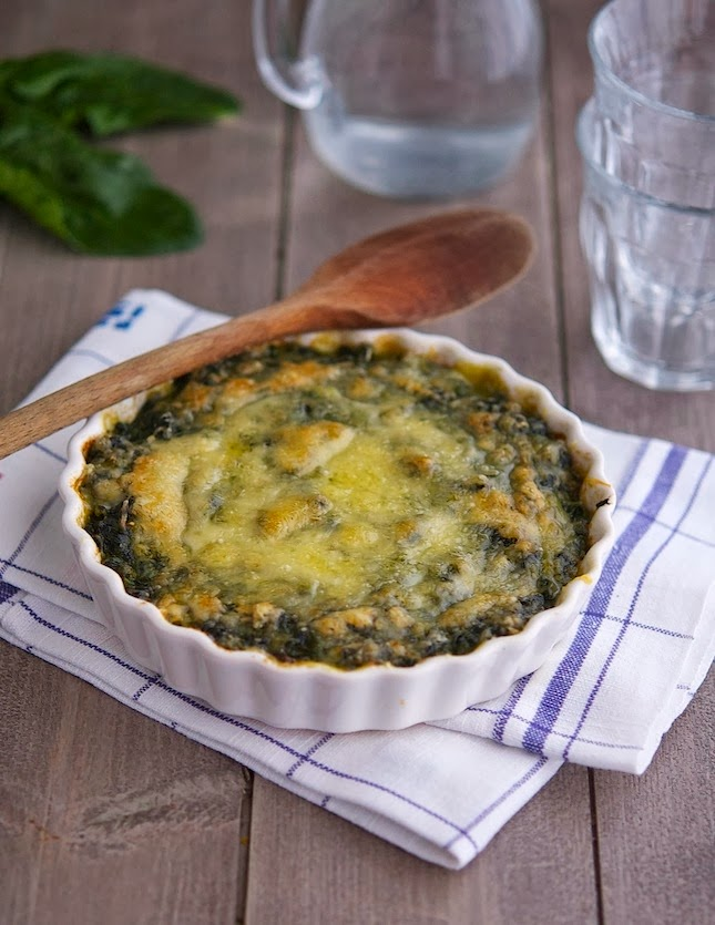 Cheesy Baked Spinach