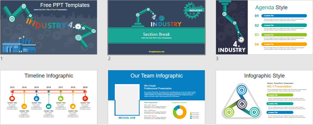 Industry 4 0 Powerpoint Templates For Free Industry Free Google Slides Theme Free Powerpoint