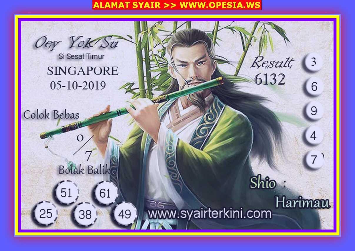 Kode syair Singapore Sabtu 5 Oktober 2019 34