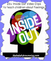 http://www.thehelpfulcounselor.com/20-inside-out-clips-to-help-teach-children-about-feelings/