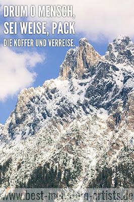 """""""Drum o Mensch, sei weise, pack die Koffer und verreise."""", Wilhelm Busch"""