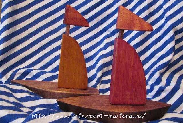 деревянные игрушки-лодки