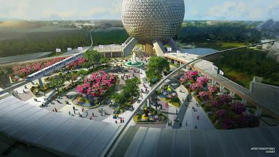 Epcot New Entrance Replacing Leave a Legacy Concept Art
