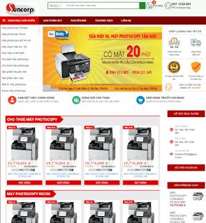 Giao diện Web bán máy in, máy photocopy - Theme Blogspot - Blogspotdep.com