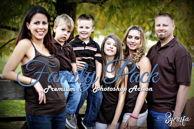 50 Free Family Pack Photoshop Actions