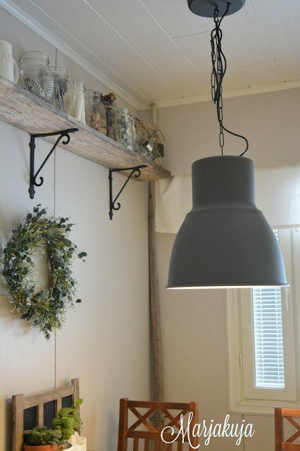 Ikean hektar lamppu keittiossa